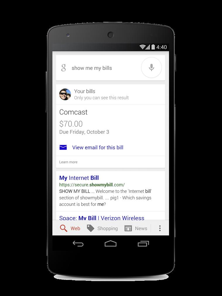 google now bills