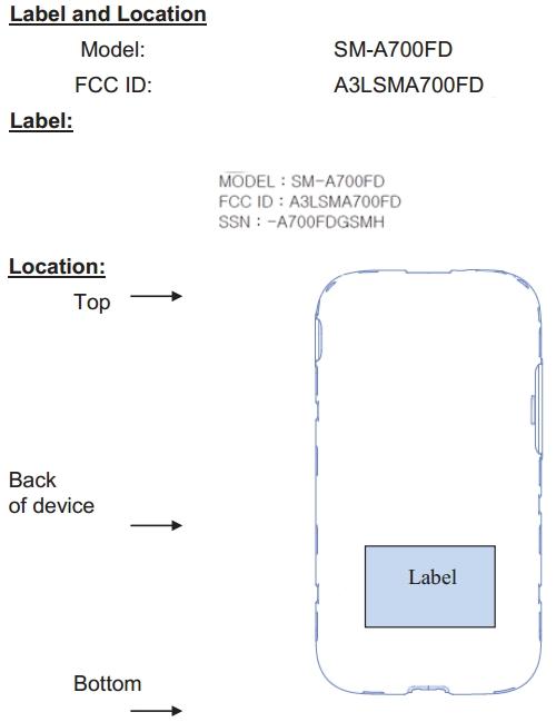 Samsung-Galaxy-A7-SM-A700-FCC-Label-Locations